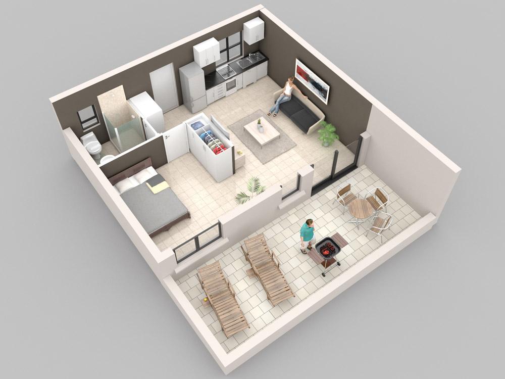 Gallery for 35m2 apartment design